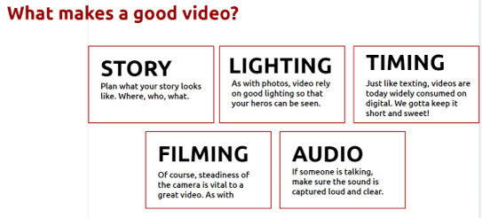 Tips for creating videos